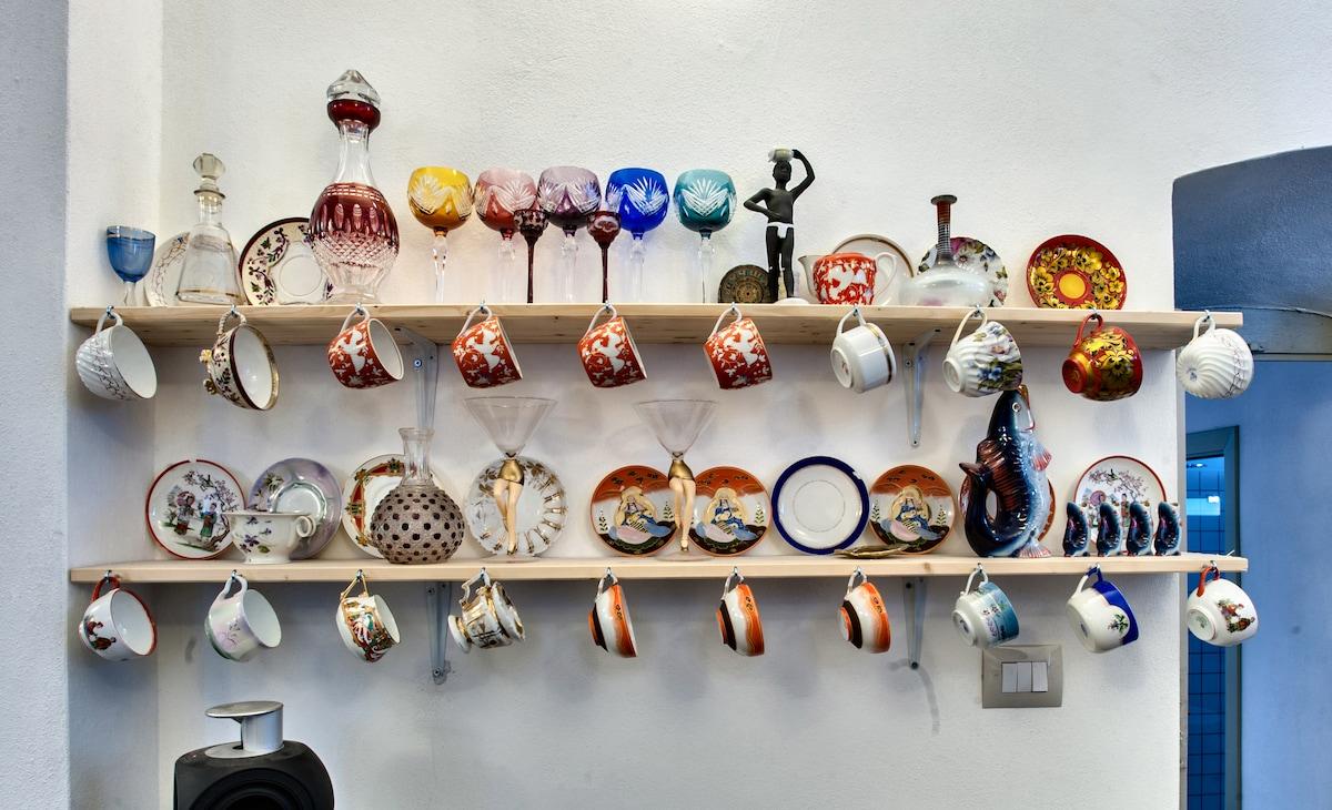 A collection of Soviet porcelaine teacups