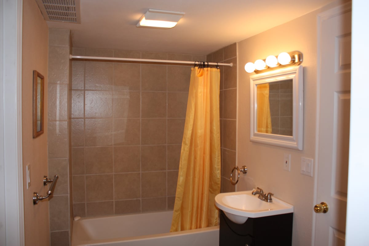 Full, private, fully remodeled bathroom.