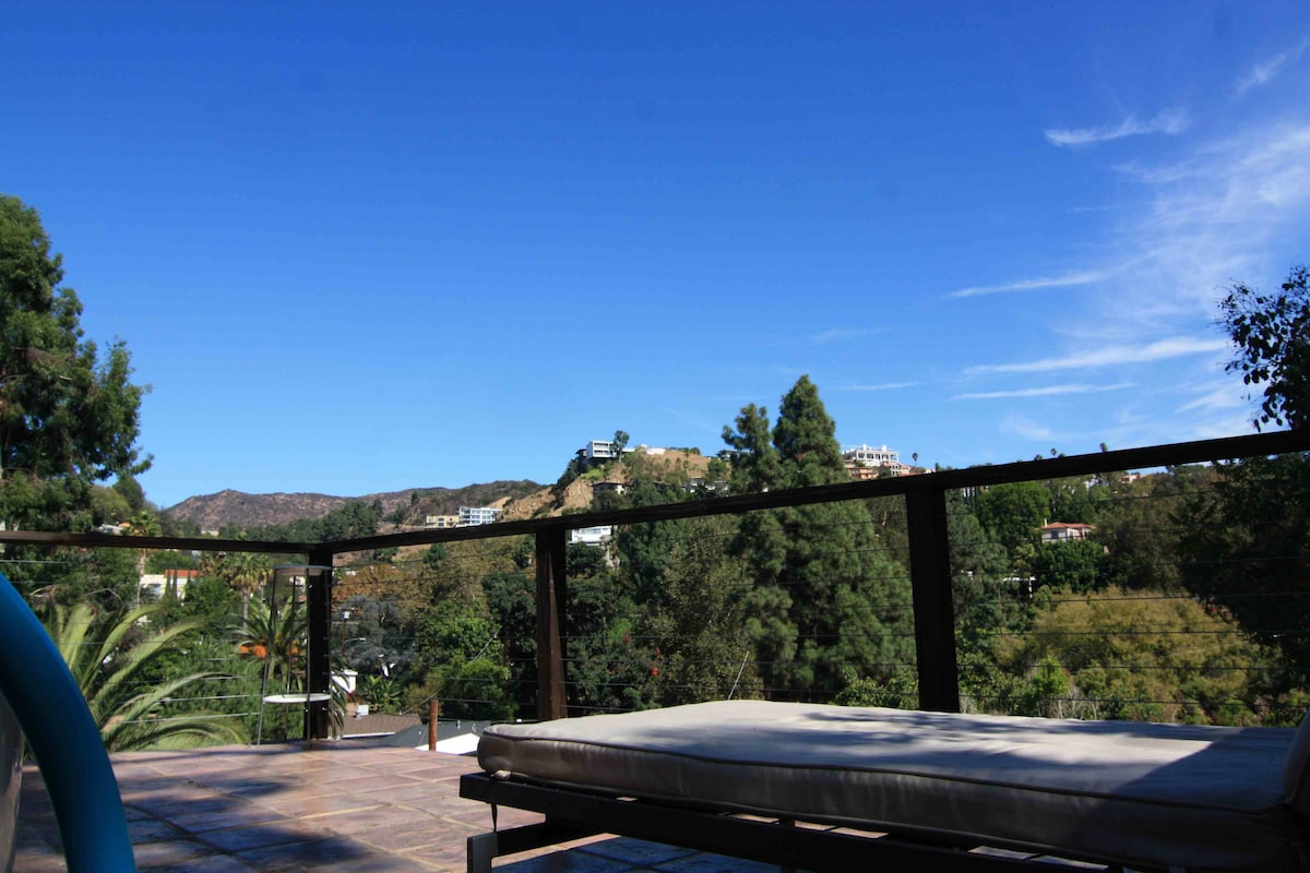 'Hollywood Dell' view from the deck