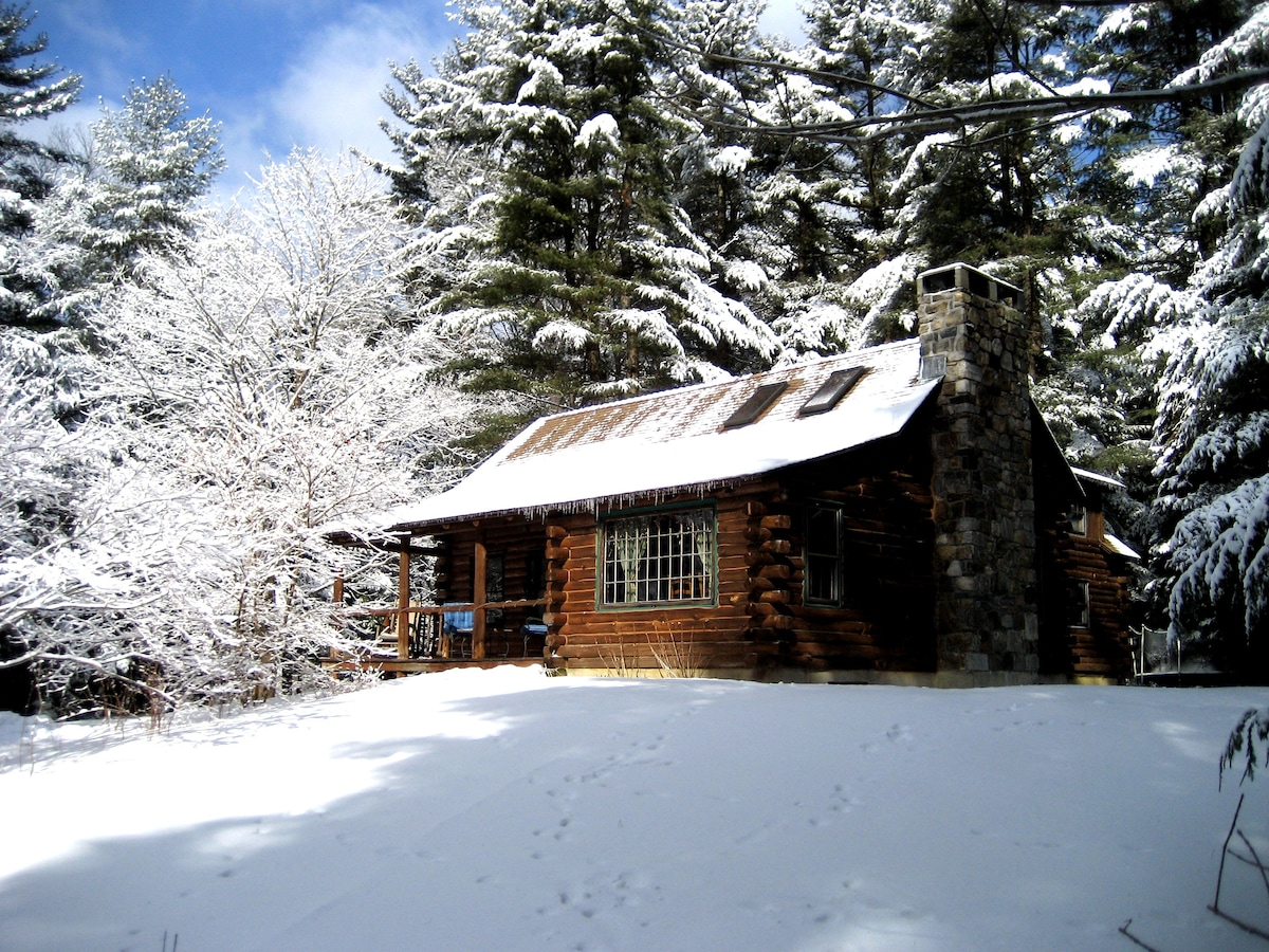 Our cabin is a year round getaway.