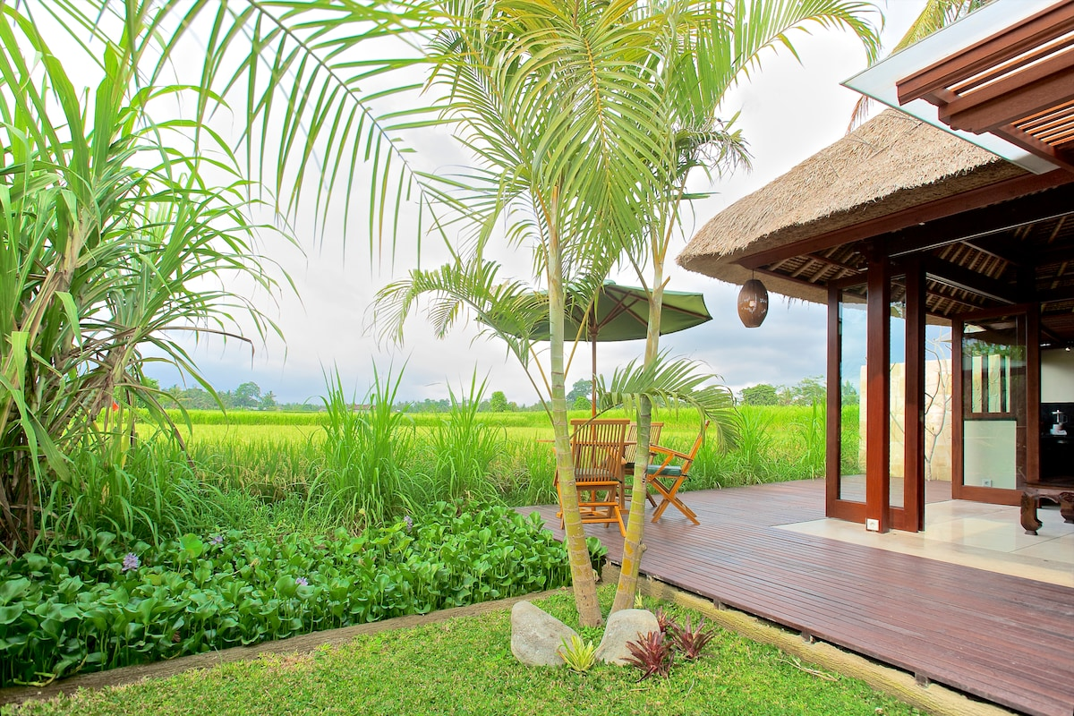 Enjoy breakfast on your deck and your private meditation garden