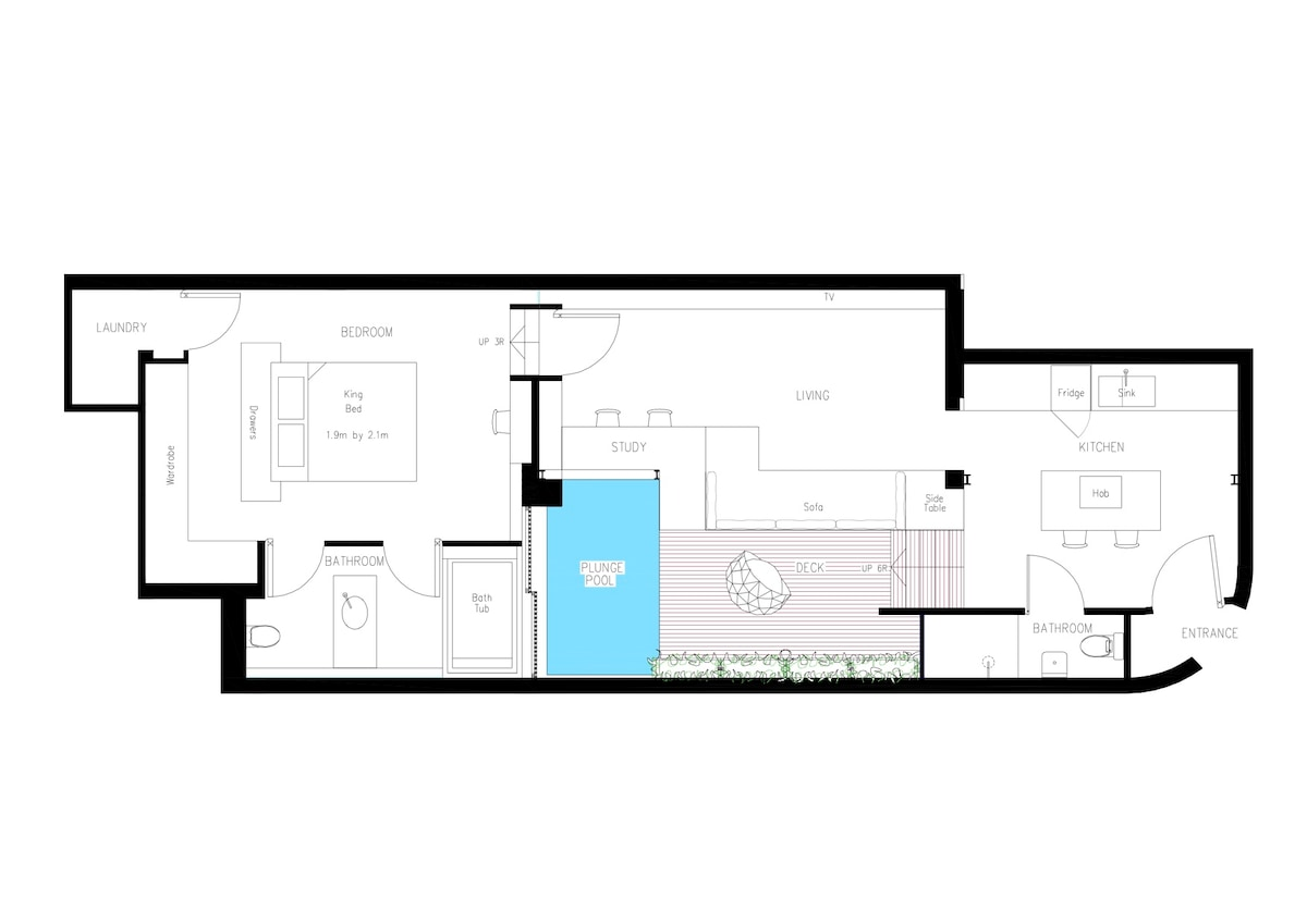 Floor plan - 1,000 sq.ft. ground floor villa