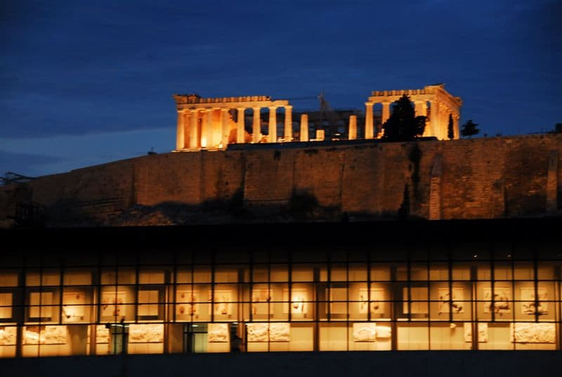 Relaxing and dining with our Superb view of the Acropolis