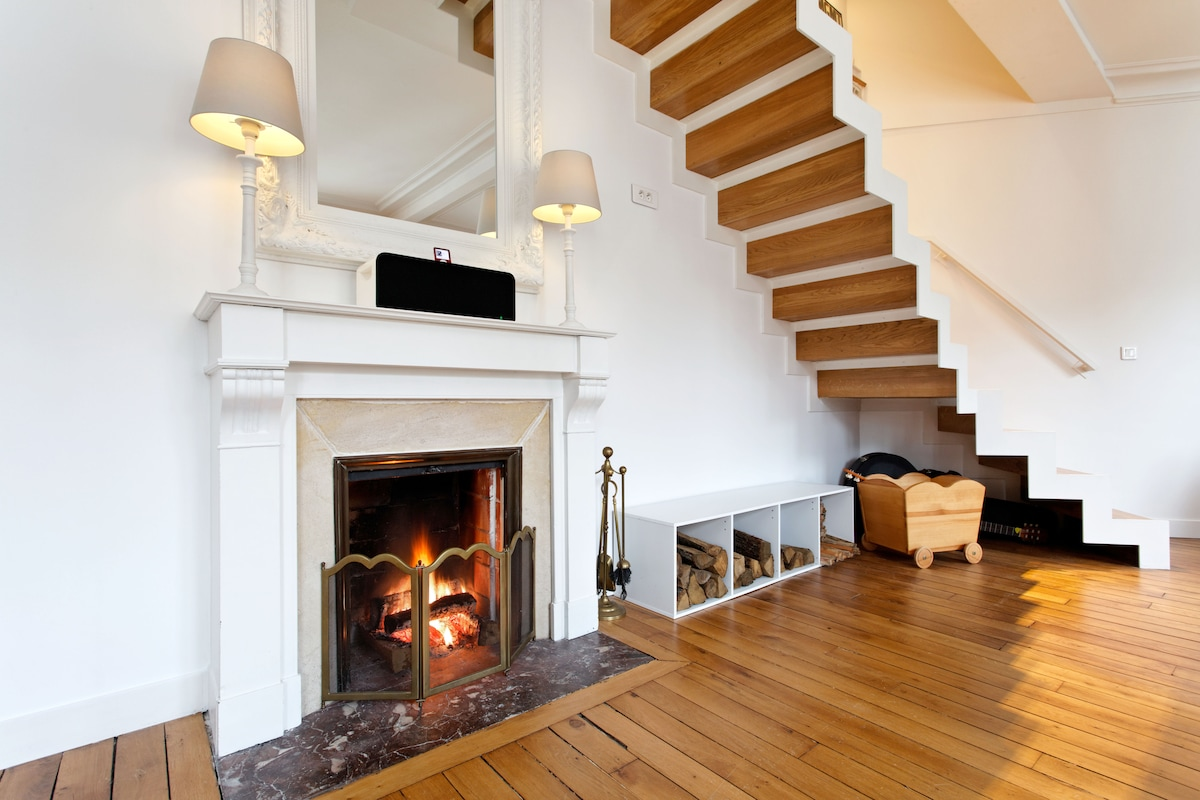 Our fireplace is perfect for cold winter nights !