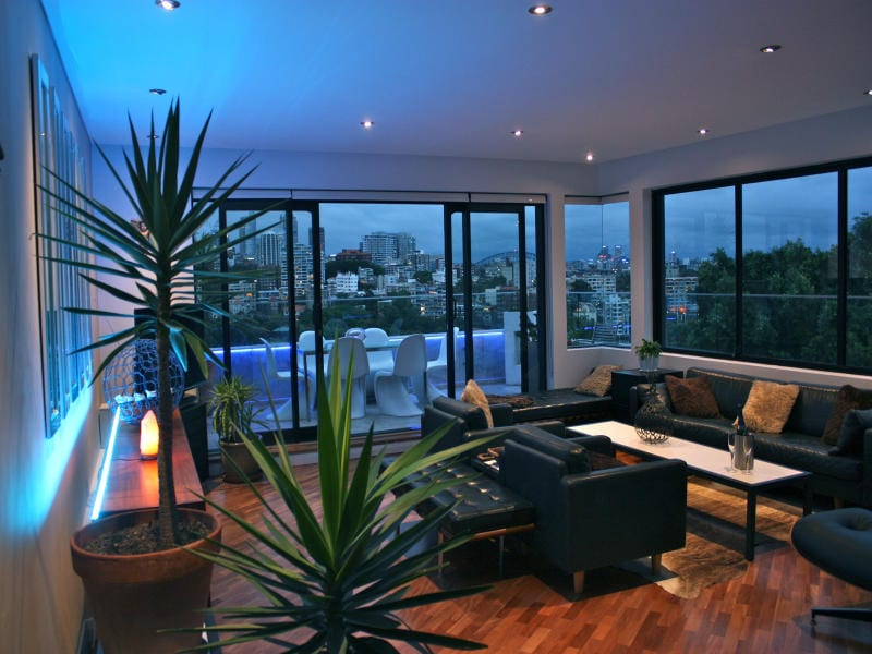 The living room windows are designed to capture the panoramic views....
