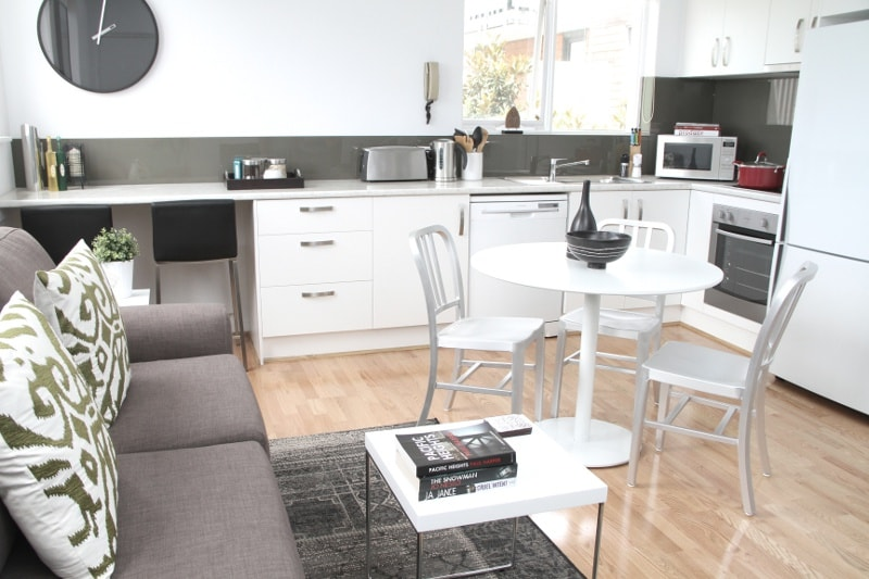 spacious open plan living/dining/kitchen zone