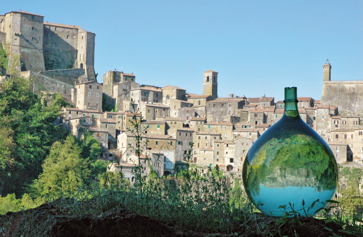 A view of Sorano from my garden across the river valley