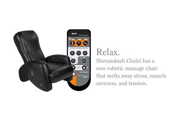 We have a new robotic massage chair that melts away stress better than a hot tub.