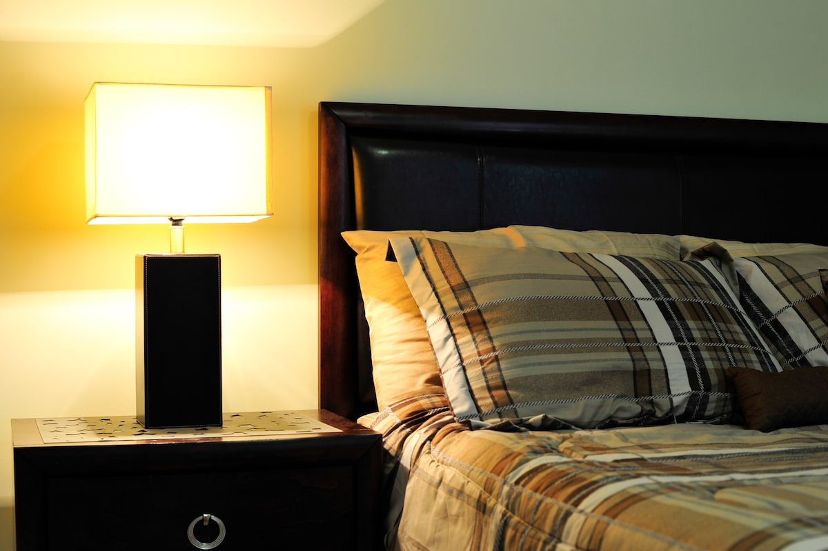 Master Bedroom with lamp - your room