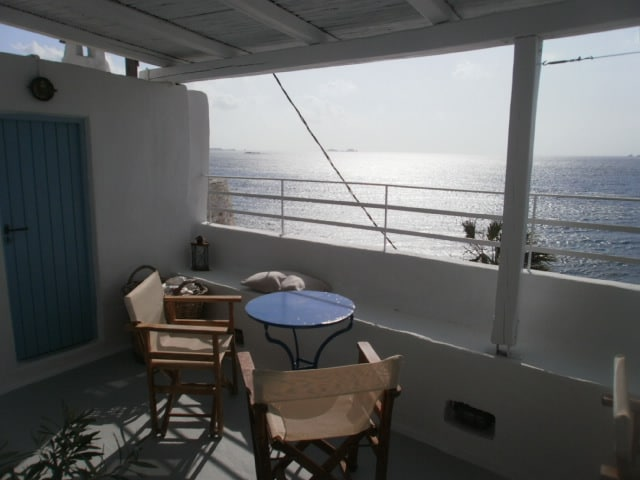 the terrace of the apartment