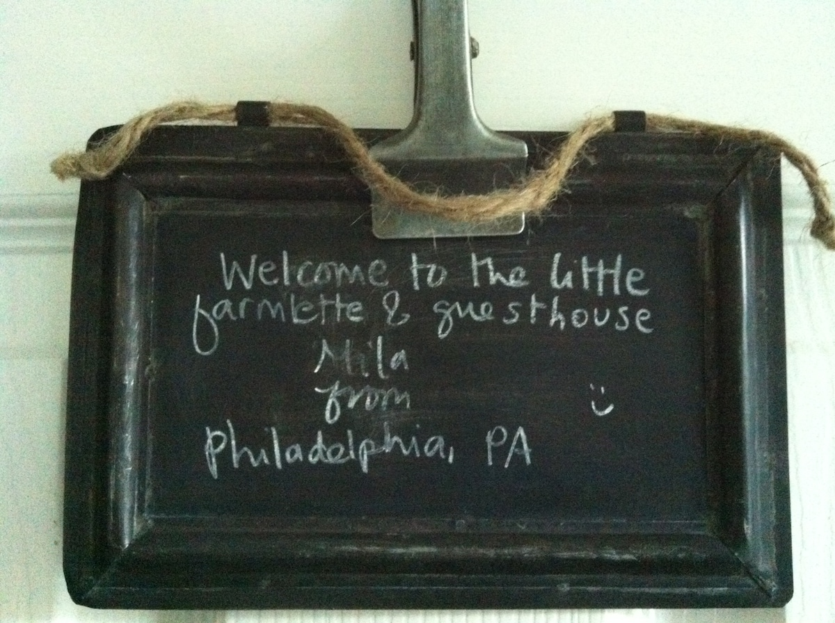 welcome!  look for your name posted on or next to your bedroom door.
