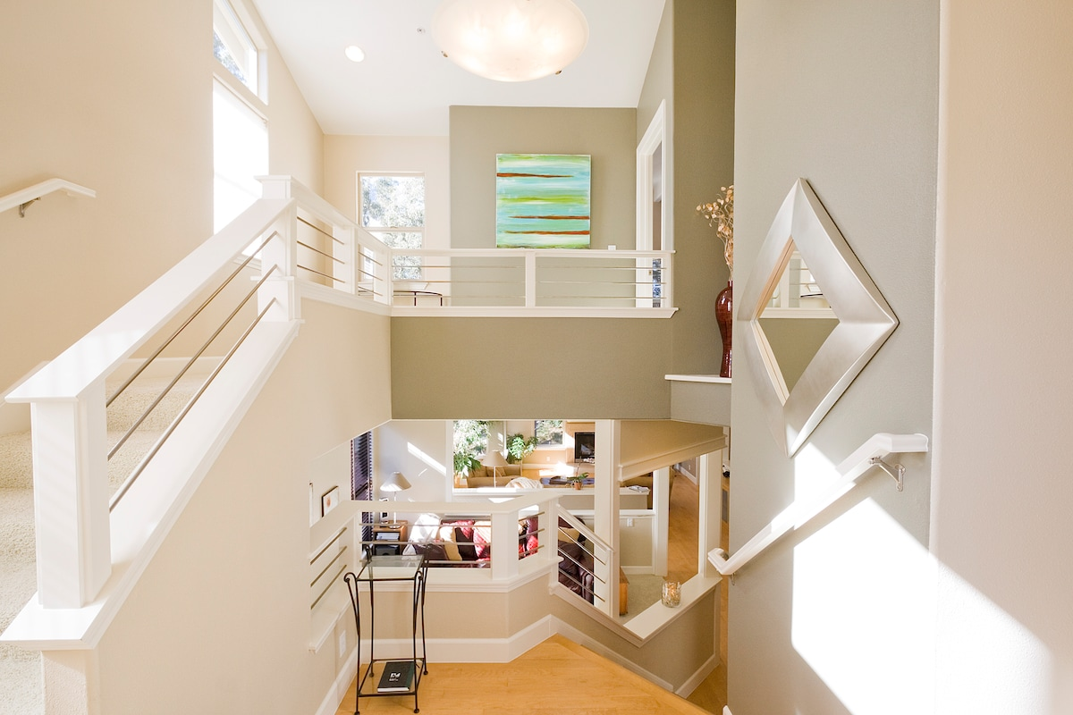 Entry Way - Upstairs is Master Suite - down half flight of stairs is  Main Floor Living Area is down.