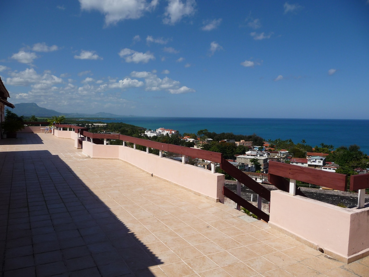 View from the roof terrace to Puerto Plata