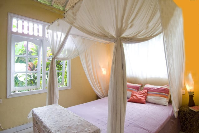 Casa Mia BnB, Room Matahari (means Sun) downstair, with  garden view.