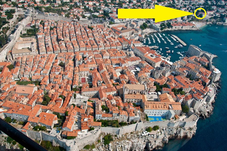 The Old Town, the beach and our apartment - all of them close to each other !