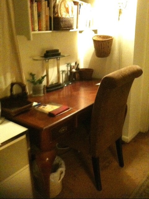 bedroom desk area