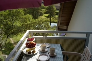 breakfast Balcony in the 'love nest' apartment