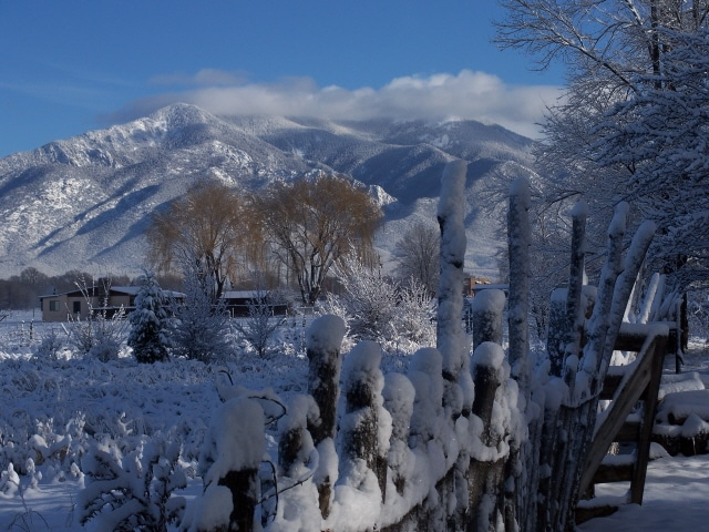 Taos Mountain from Valley below studio