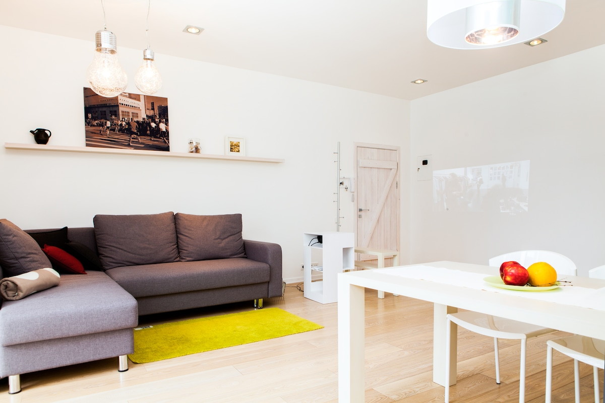 Top-modern interior combined with locally designed and crafted furniture