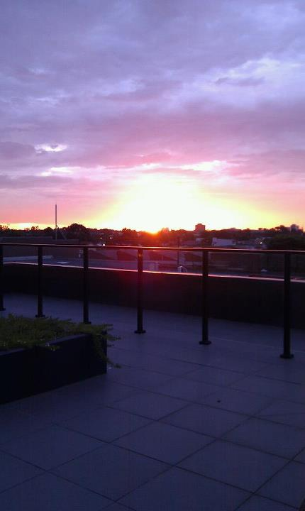 The sunset from level 3 roof top (reading corner).