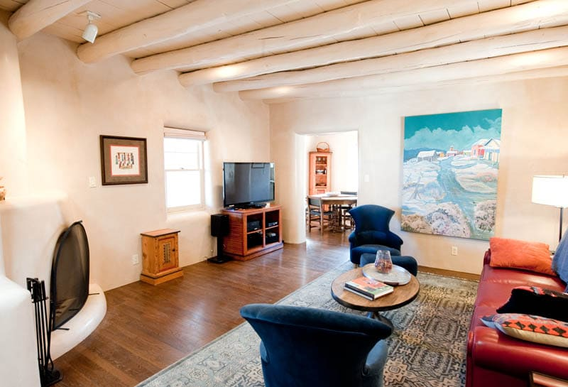 Well appointed Living Room with fantastic art