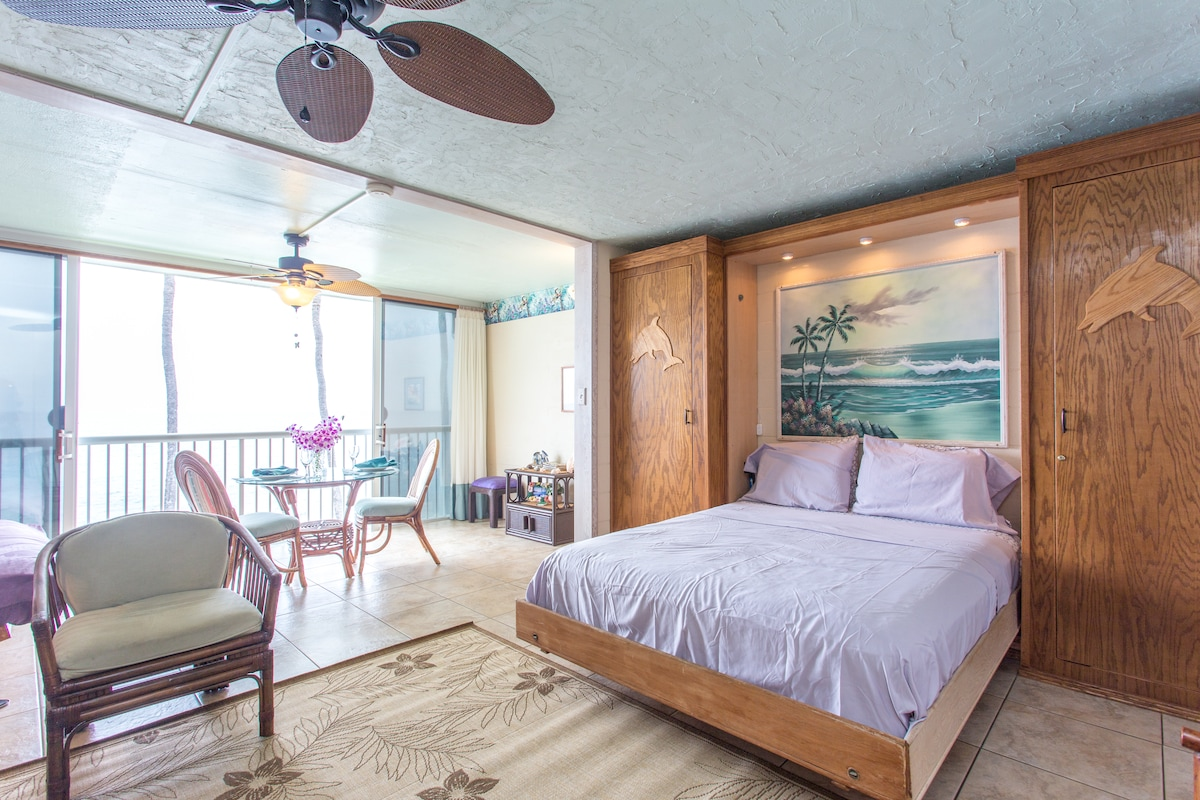 Beautiful, comfortable, Hawaiian Style Ocean Front Conto!