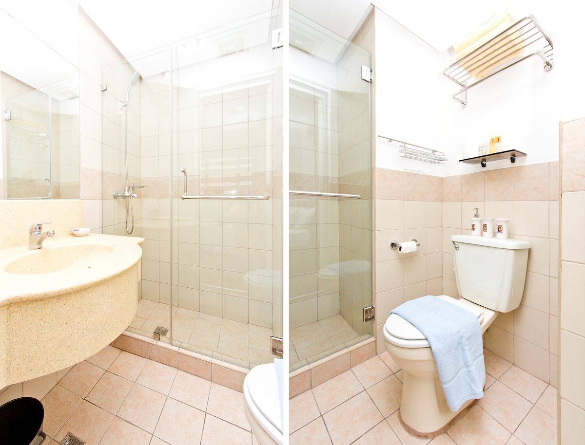 Bathroom view in 2 angles