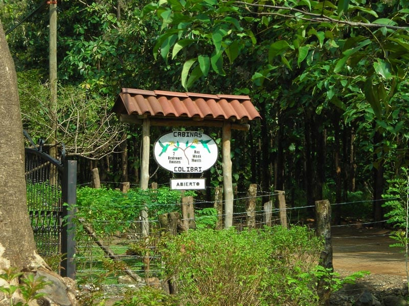 Our sign is visible from the main road as you drive into Playa Negra.