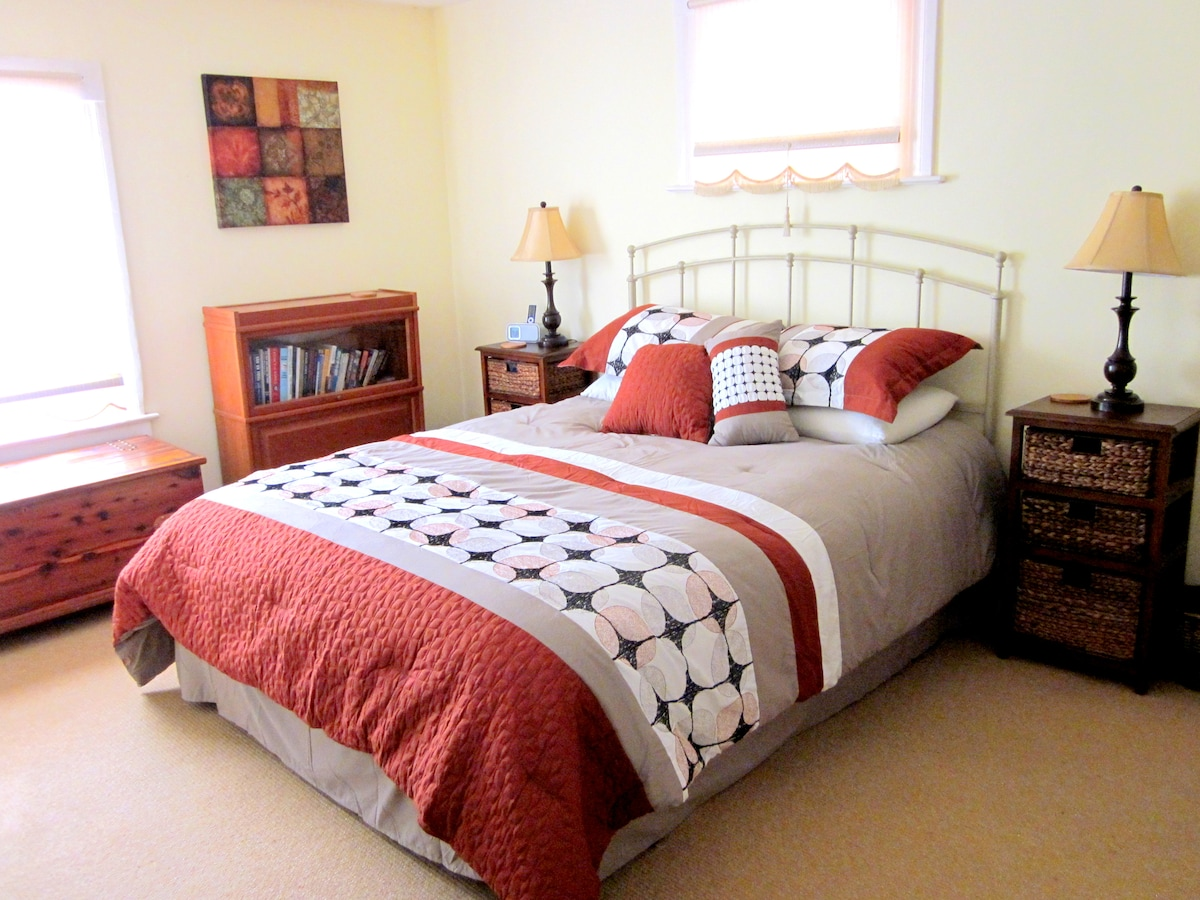 Spacious Bedroom with Queen Bed.