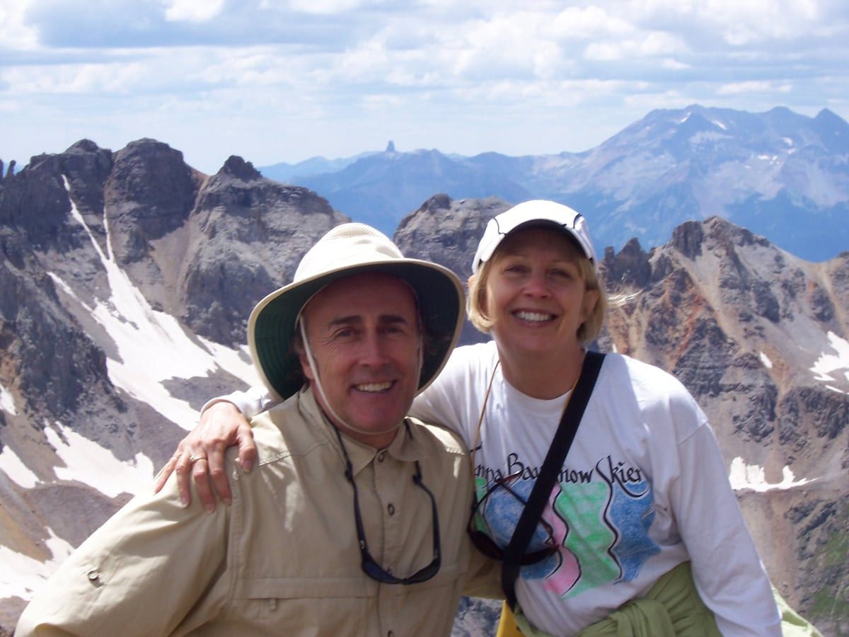 Your hosts--Lysa & Don on top of Mt. Sneffels
