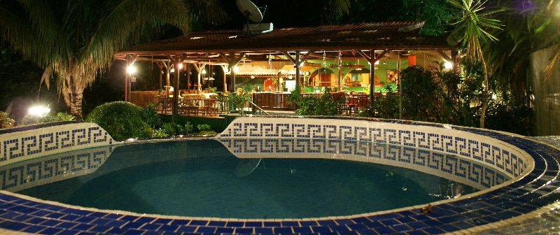 A beautiful tropical night in the Jungle Villa. Temp is 85F every hour of the year