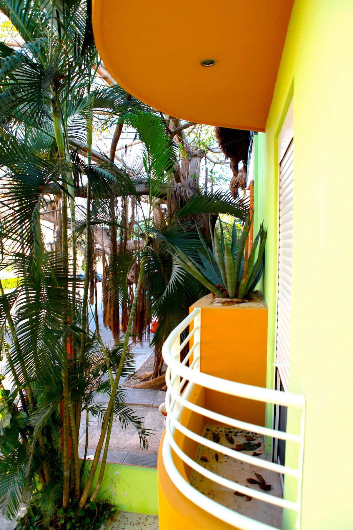 Nature surrounding bedroom balcony