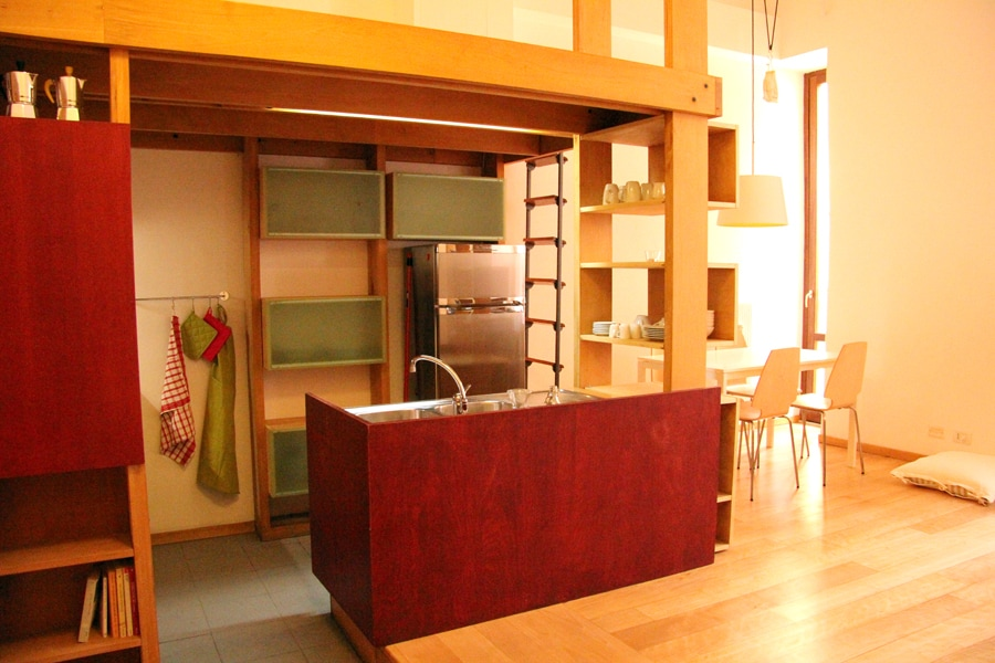 ankecasa - open kitchen and dining area