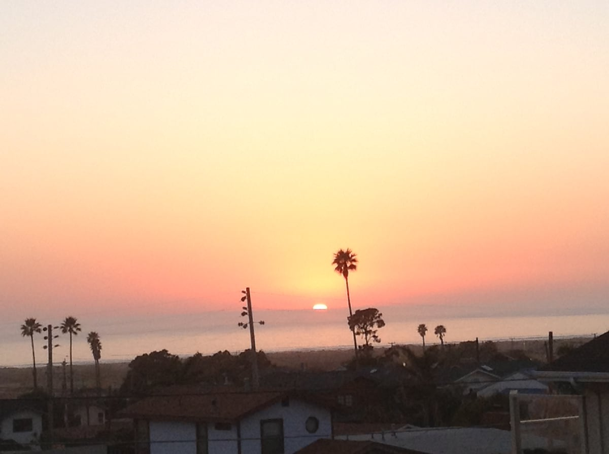 .... this stunning sunset... so typical an evening from the deck at our house...