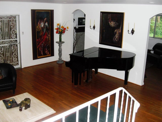 Main level entertainment room