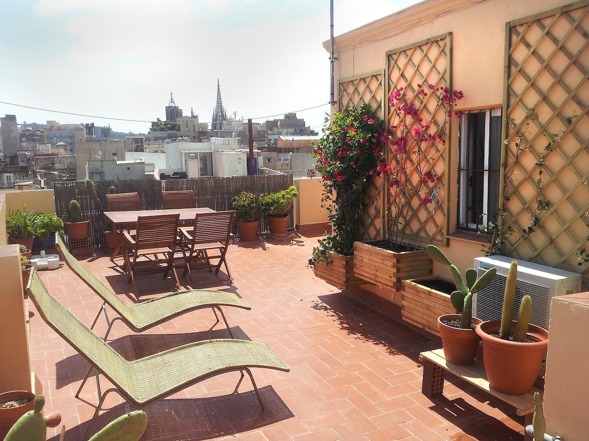 Center. Great terrace. Views 360º