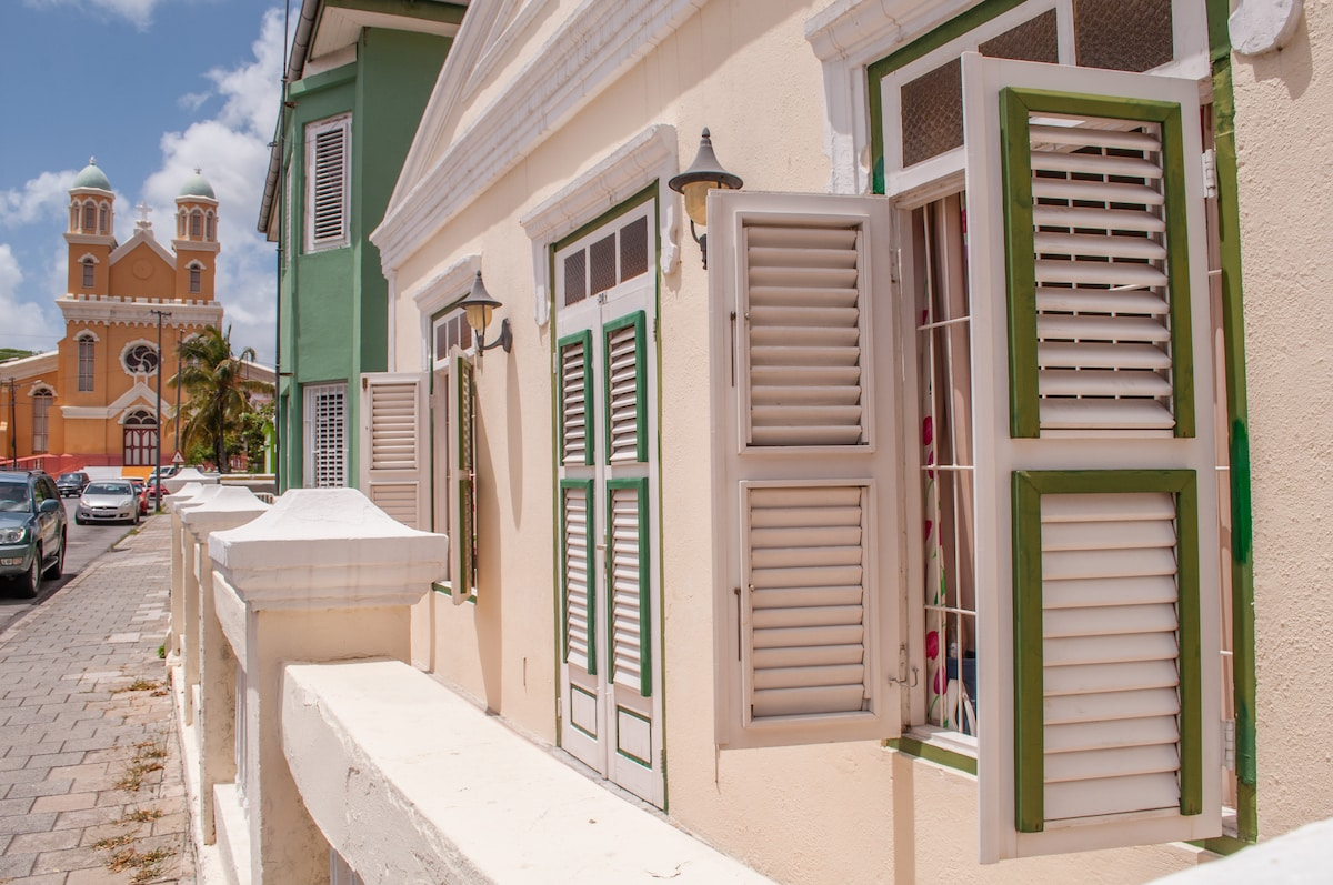 Street view with Santa Famia Church
