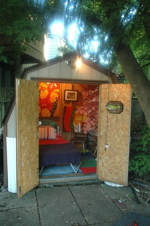 BED SHED!!! i just did this little guy! if my room is booked message me anyway..i stay in this and you can take my room in the house!