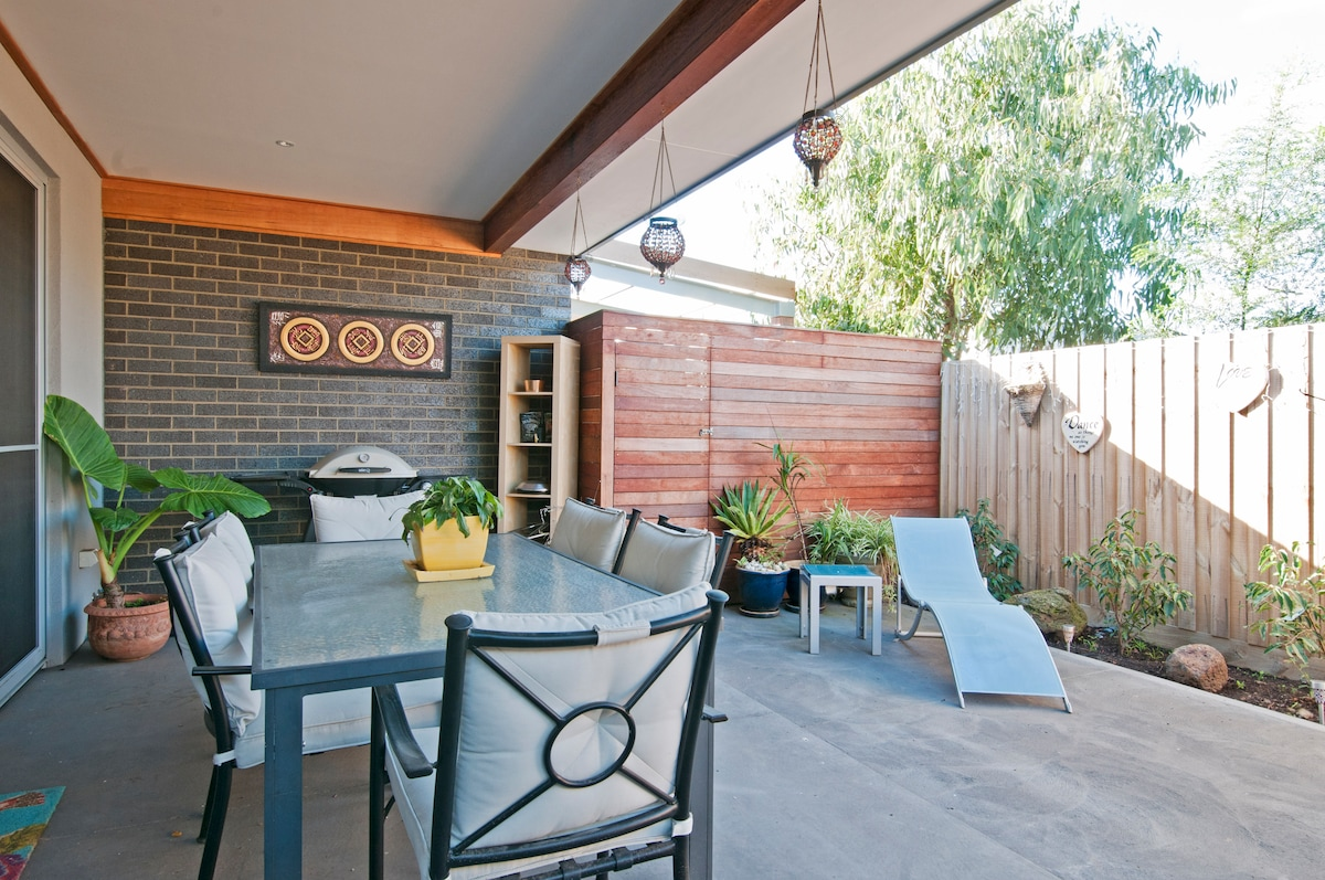 The courtyard is yours to use if you'd like to enjoy the outside, have a BBQ or enjoy your morning breakfast.