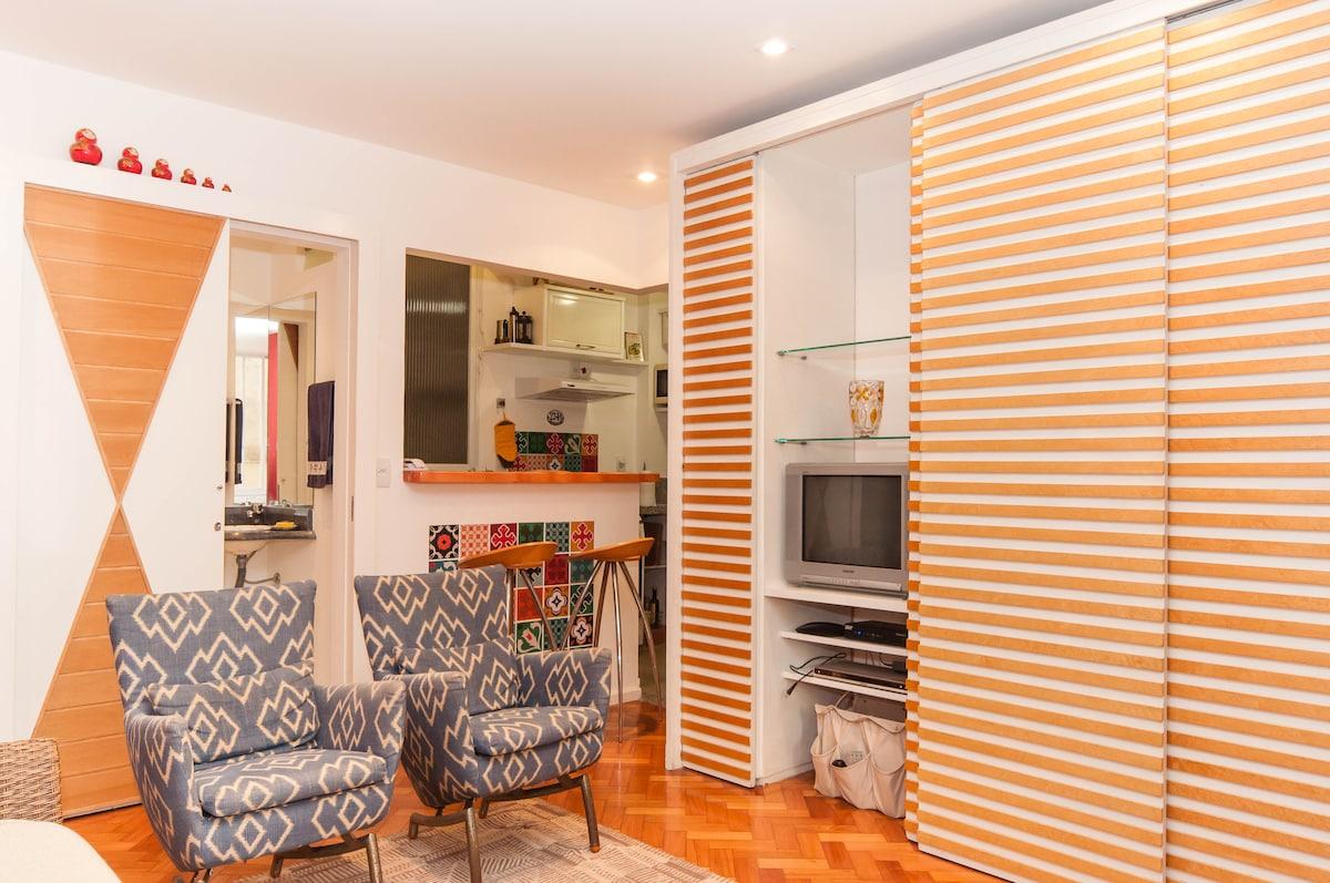 Cosy flat close to Ipanema beach