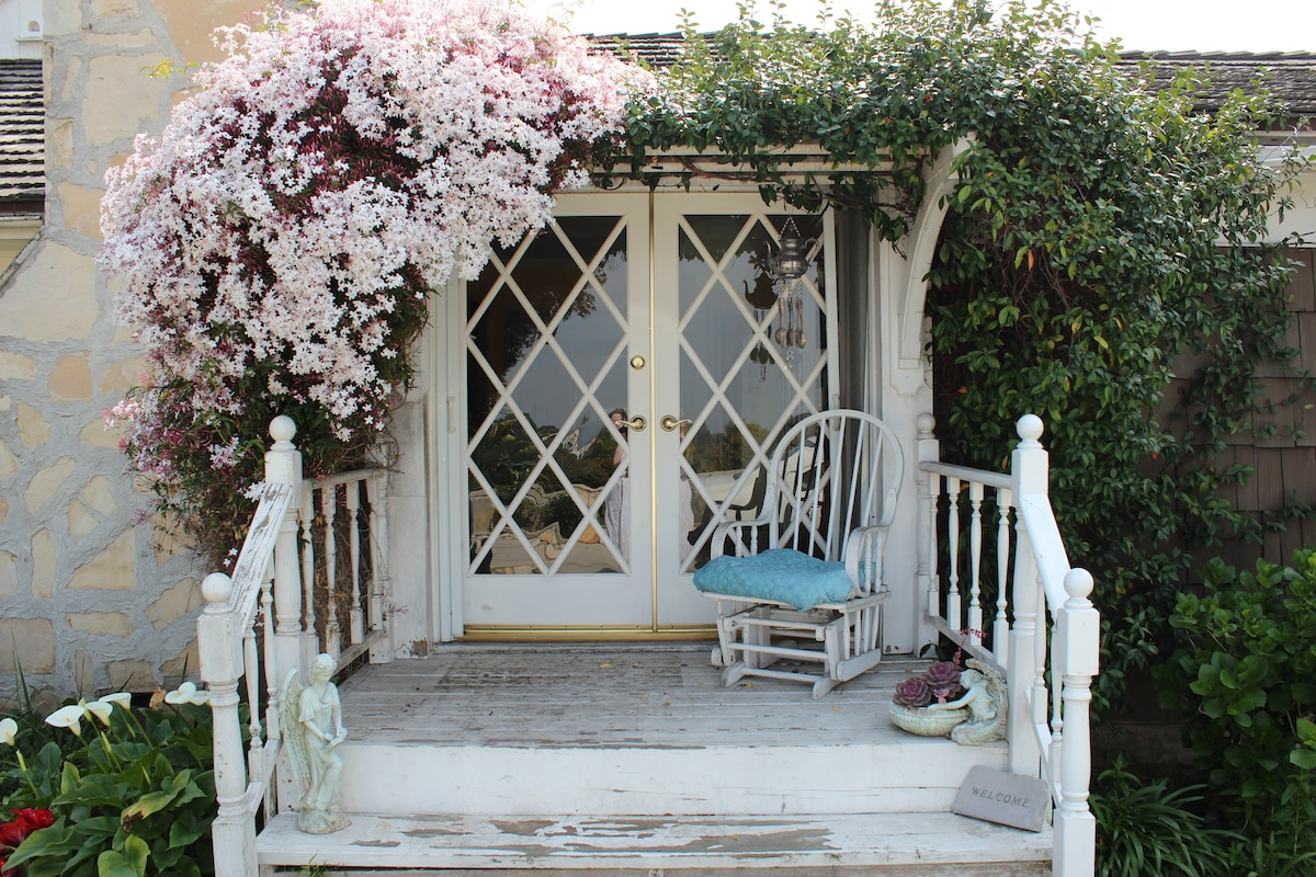 The Cottage with Pink Jasmine Blooming January -March