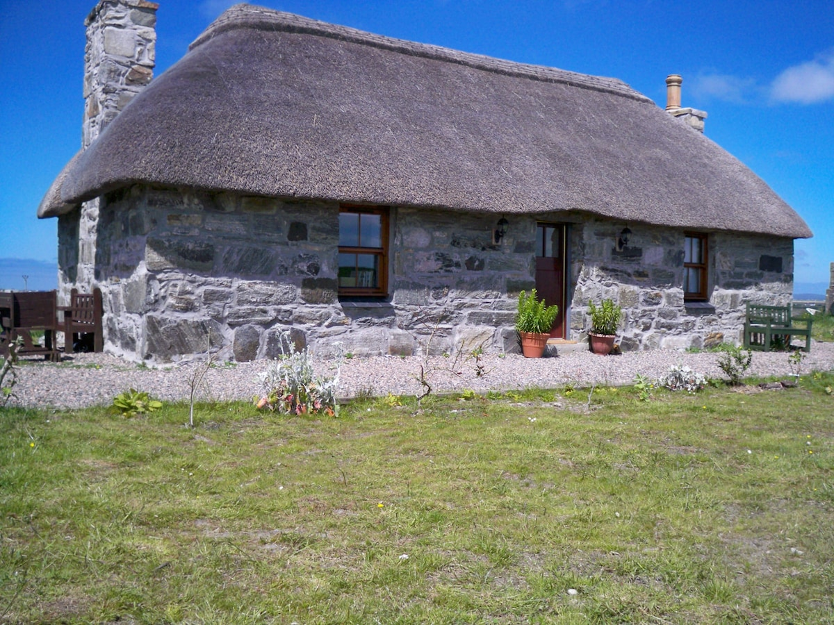 Traditional Scottish island cottage