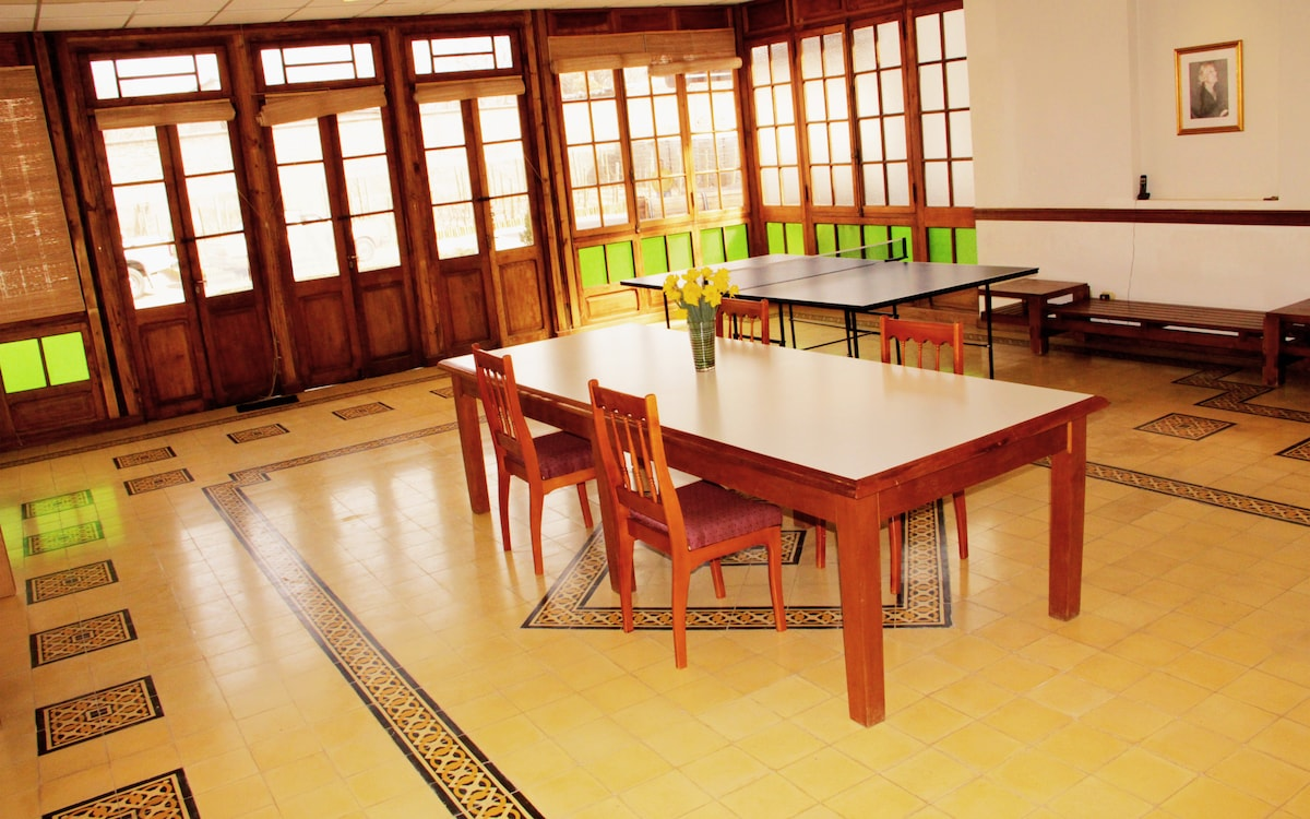 Dining Room with ping pong table for play or extra table space