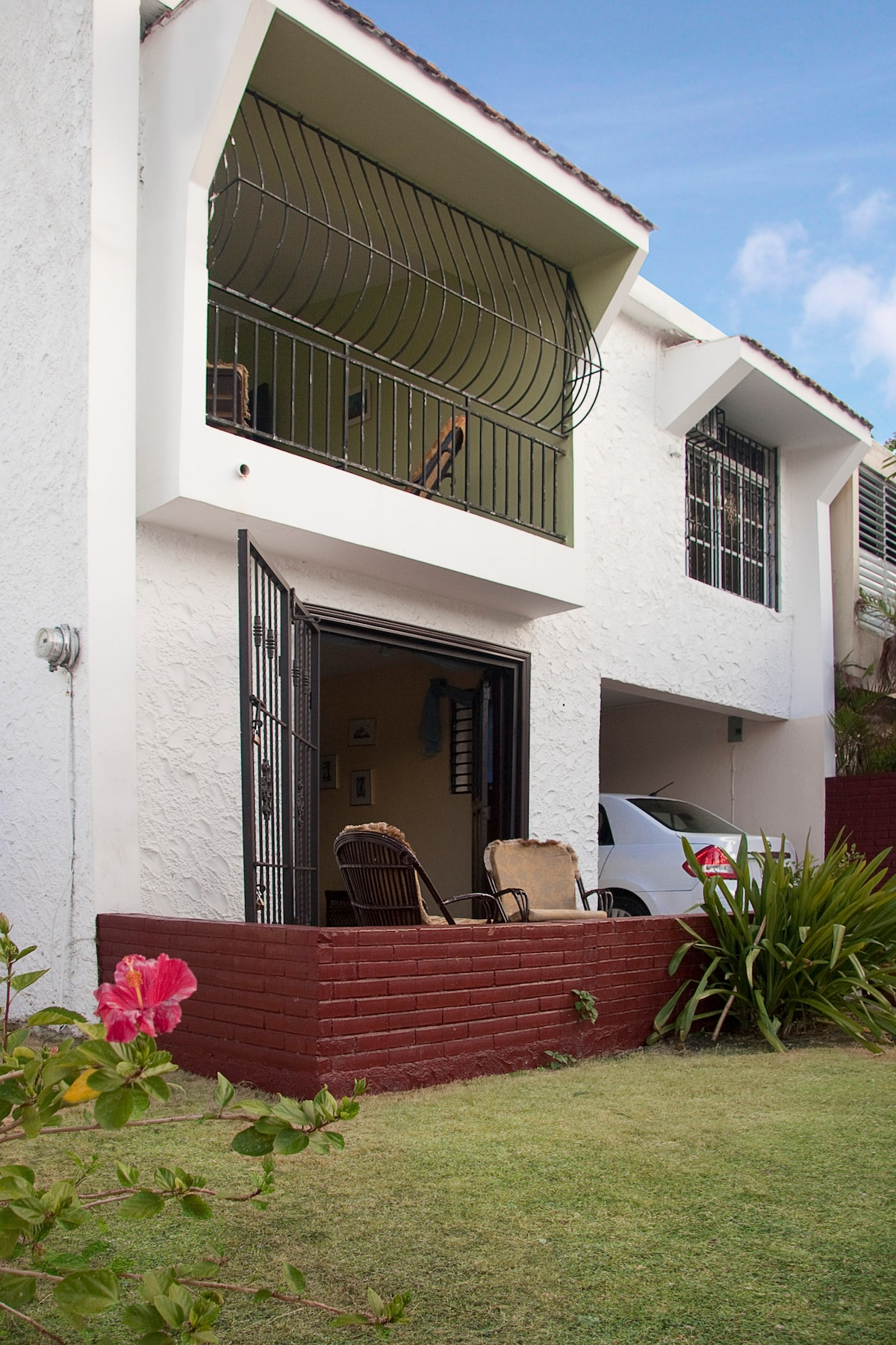 open porch, balcony upstairs