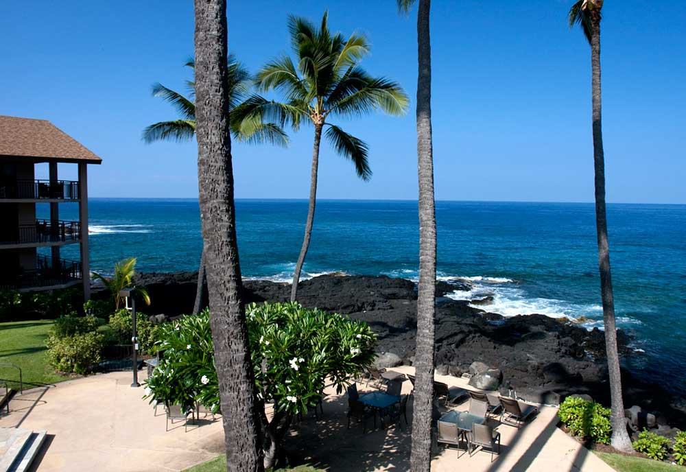 View from your private Lanai. Watch the spinner dolphins and whales!