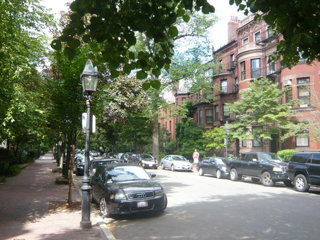 View from the apartment (you'll be right on historic Marlborough St. in the heart of the Back Bay!).