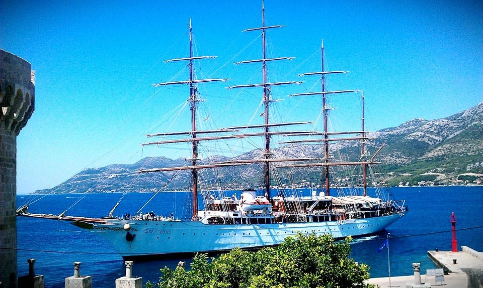 Sea Cloud - the biggest sailboat in the world right under our place