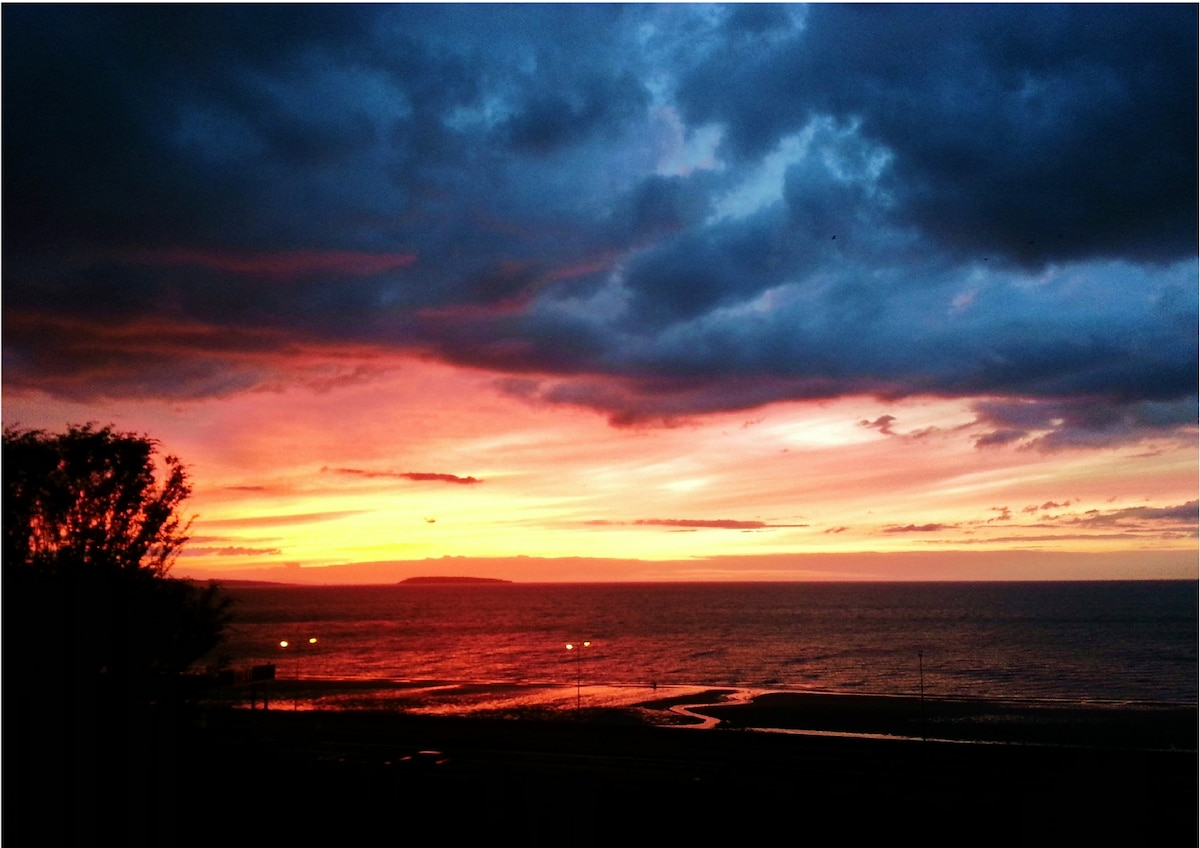 Dramatic skies at sunset. View from our lounge late July 2013.