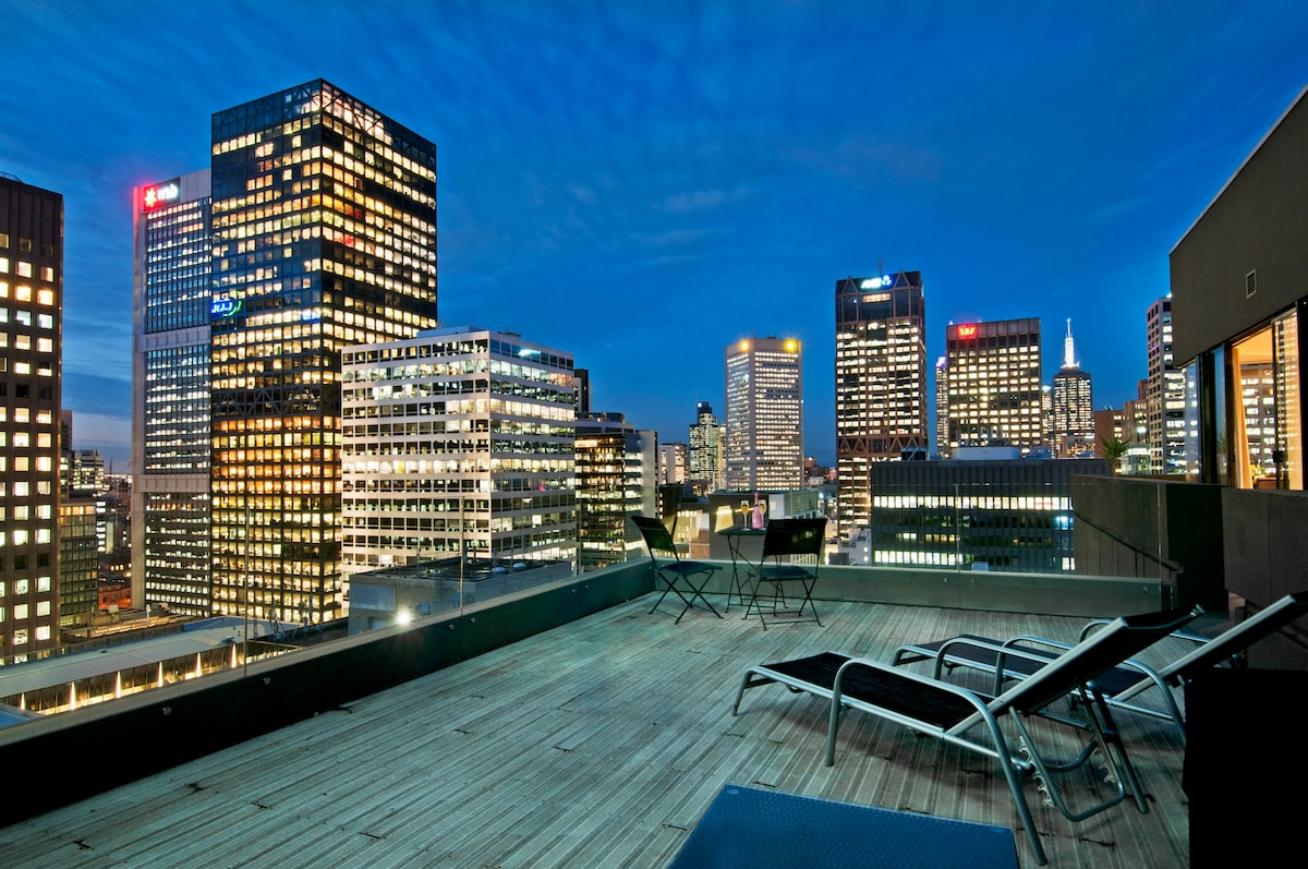 Large Private Rooftop Terrace, CBD
