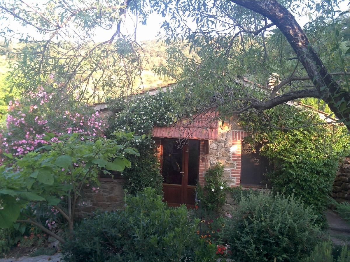 Natursteinhaus im Olivenhain
